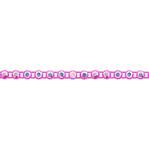 Rhinestone Banding - Hot Pink/Crystal AB