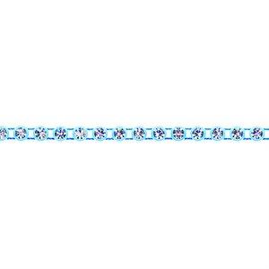 Rhinestone Banding - Light Blue/Crystal