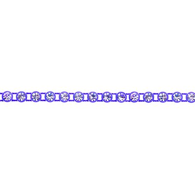 Rhinestone Banding - Purple/Crystal