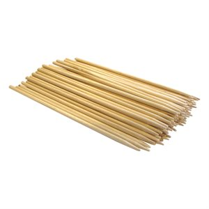 "Wood Skewers - Birch, 6"" x 11/64"" (100 Skewers)"