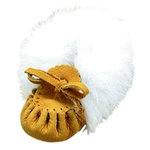 Infant Moccasins Leather (with fur)
