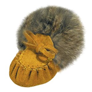 Infant Moccasins Suede (with fur) - Indian Tan