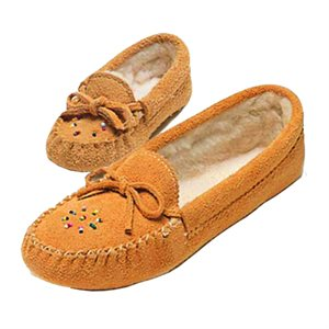 Suede Moccs With Lining - Junior