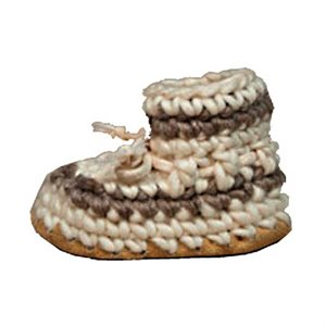 Baby Wool Moccasins - Cream