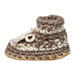Baby Wool Moccasins - Grey
