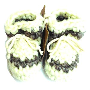 Newborn Wool Moccasins - Cream