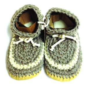 Ladies Wool Moccasins - Grey