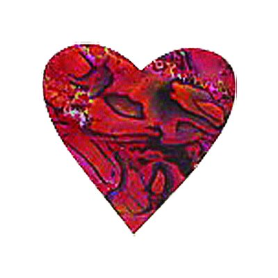 Shell Shapes - Red Hearts, 25mm (12 per pack)