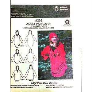 Adult Parkover (Pull-over Parka) Pattern