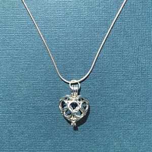 Silver Chain With Heart Diffuser Pendant
