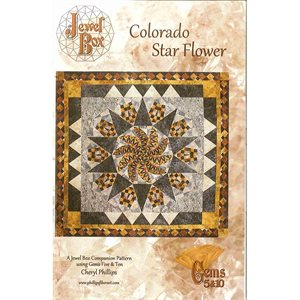 Colorado Star Flower Pattern Using Jewel Box