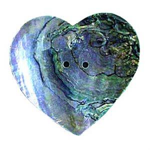 "Abalone Heart Concho Shells (2"")"