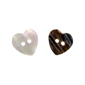 River Rainbow Heart Shell - 15mm