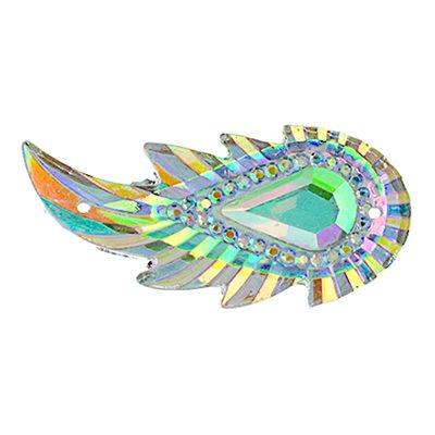 Sew-On Piikki Stones (10 Pieces) 17 x 36 Leaf Crystal