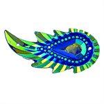 Sew-On Piikki Stones (10 Pieces) 17 x 36 Leaf Royal Blue