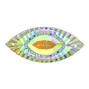 Sew-On Piikki Stones (10 Pieces) 18 x 40 Navette Crystal