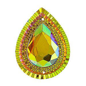 Sew-On Piikki Stones (10 Pieces) 20 x 30 Drop Citrine