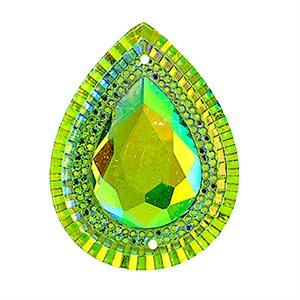Sew-On Piikki Stones (10 Pieces) 20 x 30 Drop Lime