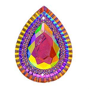 Sew-On Piikki Stones (10 Pieces) 20 x 30 Drop Pink