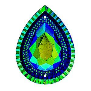 Sew-On Piikki Stones (10 Pieces) 20 x 30 Drop Royal Blue