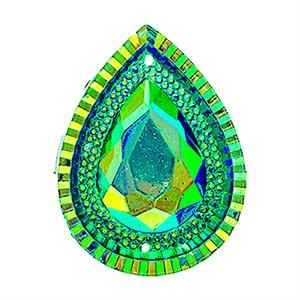 Sew-On Piikki Stones (10 Pieces) 20 x 30 Drop Turquoise