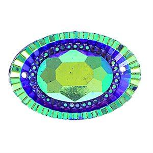 Sew-On Piikki Stones (10 Pieces) 18 x 25mm Oval Purple