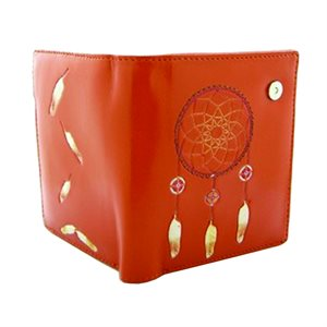 Ladies Short Wallet - Dream Catcher Orange