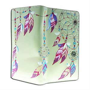 Ladies Wallet - Dream Catchers - Cream (Zipper)