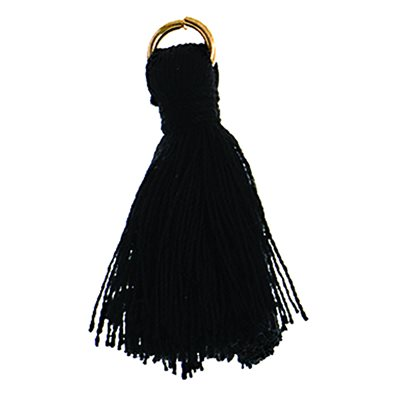 "Poly Cotton Tassels (10 Pieces) 1"" Black"