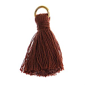 "Poly Cotton Tassels (10 Pieces) 1"" Brown"
