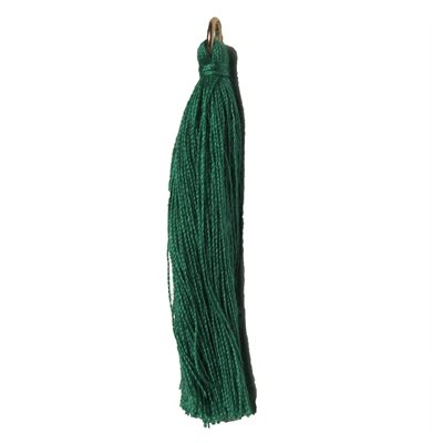 "Poly Cotton Tassels (10 Pieces) 1"" Emerald"