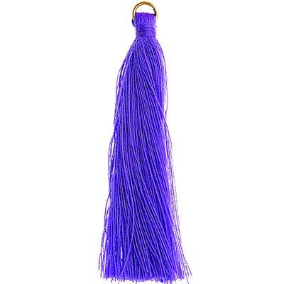 "Poly Cotton Tassels (10 Pieces) 2.25"" Purple"