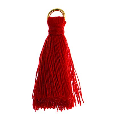 """Poly Cotton Tassels (10 Pieces) 1"""" Red"""