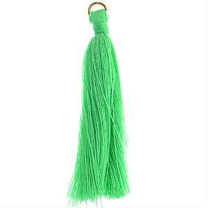 """Poly Cotton Tassels (10 Pieces) 2.25"""" Turquoise"""
